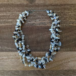 Earth Tone Beaded Multistrand Necklace